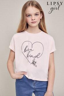 Lipsy Pink Bee Kind Foil Print T-Shirt