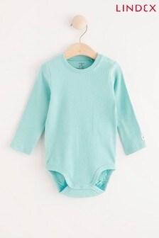 Lindex Dusty Aqua Baby Long Sleeved Bodysuit