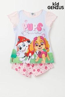 Kid Genius Pink Paw Patrol Short Sleeved Character Pyjama Short Set