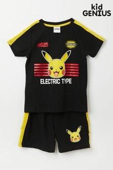 Kid Genius Black Long Sleeve Pikachu PJ Set
