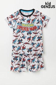 Kid Genius Grey Short Sleeve Spiderman PJ Set