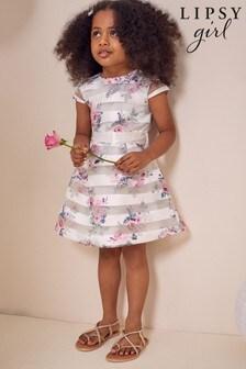 Lipsy White Mini Cap Sleeve Belted Dress