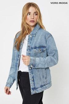 Vero Moda Blue Oversized Denim Jacket