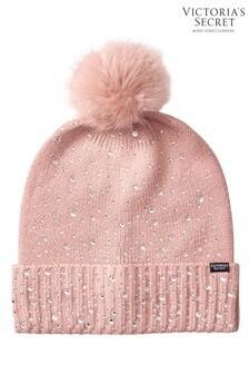 Victoria's Secret Pink Pom-Pom Hat
