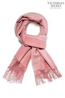 Victoria's Secret Pink Stripe Plush Scarf