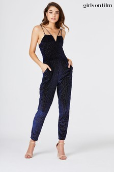 Little Mistress Silver Manhattan Lurex Stripe Jumpsuit