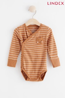Lindex Rust Baby Wrap-Over Bodysuit