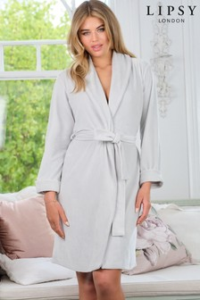 Lipsy Silver Grey Velour Robe