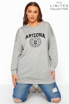 Yours Grey Curve Limited Collection Marl Arizona Sweatshirt