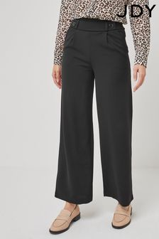 JDY Black Wide Leg Trousers