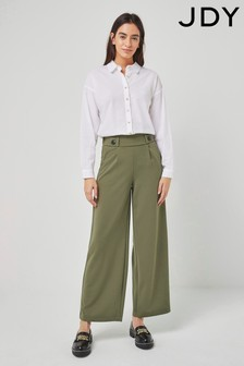 JDY Green Wide Leg Trousers
