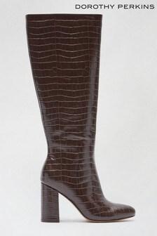 Dorothy Perkins Croc Karma Knee High Croc Boot