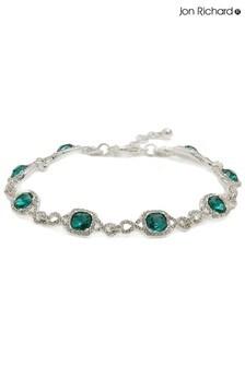 Jon Richard Green Emerald Green Infinity Crystal Bracelet