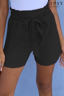 Lipsy Black Paperbag Shorts