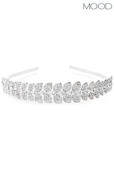 Mood Silver Leaf Diamante Hairband