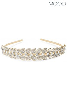 Mood Gold Crystal Leaf Allway Headband