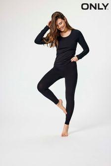 Only Black Jersey Regular Leggings