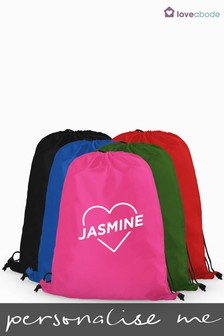 Personalised Heart PE Bag by Loveabode