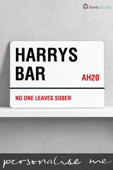 Personalised Bar Sign by Loveabode