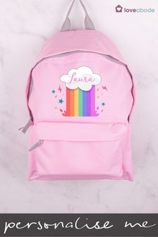 Personalised Rainbow Cloud Backpack by Loveabode