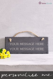 Personalised Real Slate Sign by Loveabode