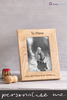 Personalised Oak Picture Frame By Loveabode