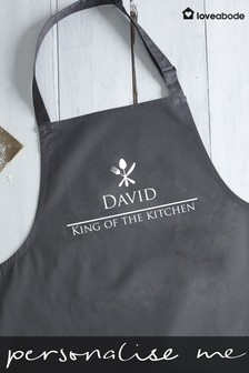 Personalised King Of The Kitchen Apron by Loveabode