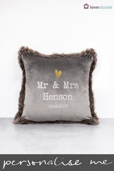Personalised Mr and Mrs Cushion by Loveabode