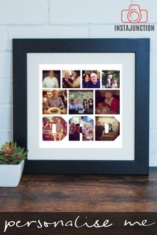 Personalised Photo Upload Text Cut-Out Framed Print by Instajunction