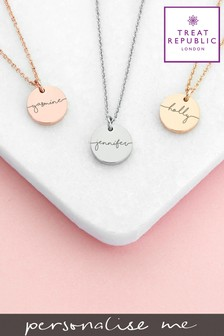 Personalised Disc Necklace by Treat Republic