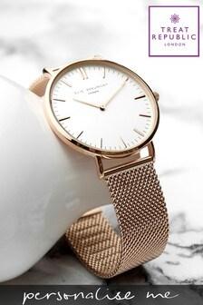 Personalised Women's Mesh Watch by Treat Republic