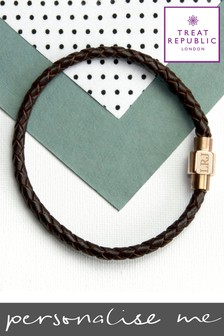 Personalised Gold Clasp Bracelet by Treat Republic