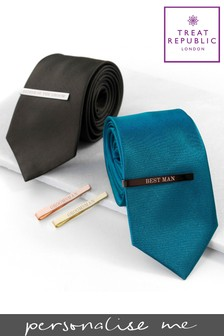 Personalised Groomsmen Tie Slide by Treat Republic