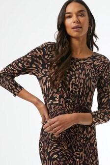 Dorothy Perkins Neutral 3/4 Sleeve Empire Seam Midi Dress