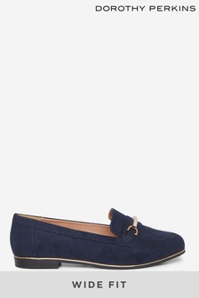 Dorothy Perkins Navy Wide Fit Navy Leila Loafer
