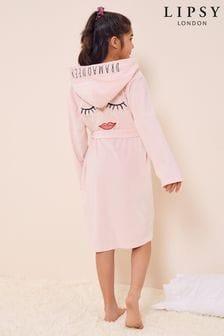 Lipsy Pink Eyelash Velour Robe