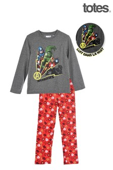 Totes Red Avengers Glow in the Dark Pyjamas
