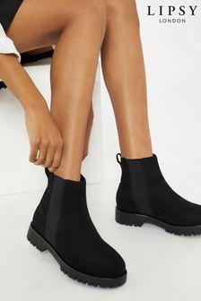 Lipsy Black Chunky Chelsea Boot
