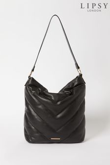 Lipsy Black Quilted Slouch Bag