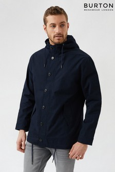 Burton Navy Button Through Parka