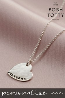 Personalised Letter Necklace by Posh Totty