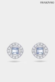 Swarovski Blue Angelic Square Pierced Earrings