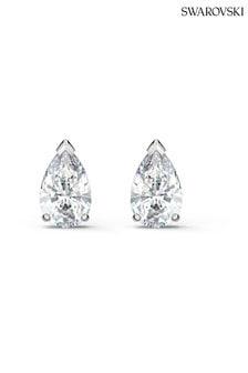 Swarovski Silver Attract Pear Stud Pierced Earrings