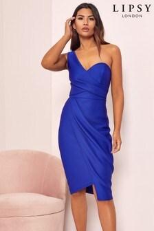 Lipsy Cobalt One Shoulder Bodycon Dress