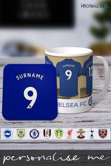Personalised Football Club Dressing Room Mug & Coaster Set by Personalised Football Gifts