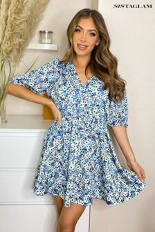 Sistaglam Wrap Mini Dress