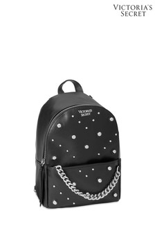 Victoria's Secret Black Studded Small City Backpack