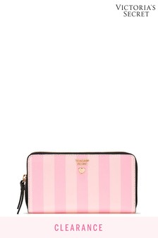 Victoria's Secret Pebbled VQuilt Zip Wallet