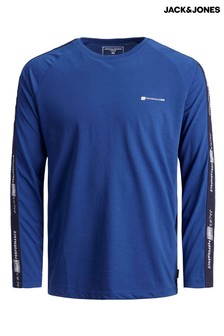 Jack & Jones Blue Mens Long Sleeve Running Top