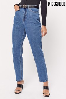 Missguided Blue Riot Highwaisted Mom Jeans